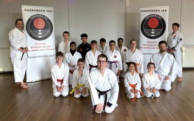 Karate black belt for Adam Sharp